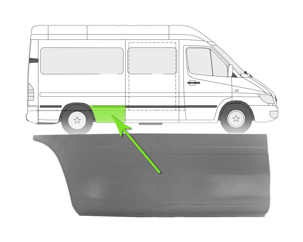 Radlauf Hinten Rechts für VW Lt 28-35 II Bus 96-06 | eBay