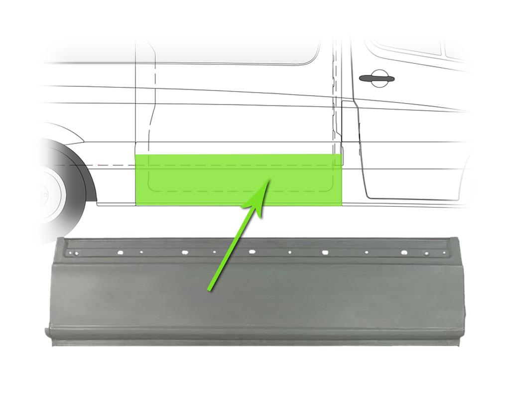 /> Acero reparación chapa pared lateral 1520x400 mm derecha para mercedes 06