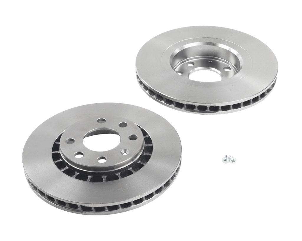 2x-Bosch-disco-de-freno-interior-ventilado-256mm-delantero-para-daewoo-Opel-84-gt