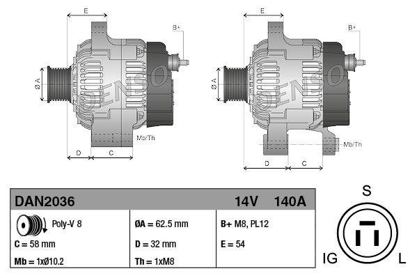 Indexbild 3 - DENSO Generator