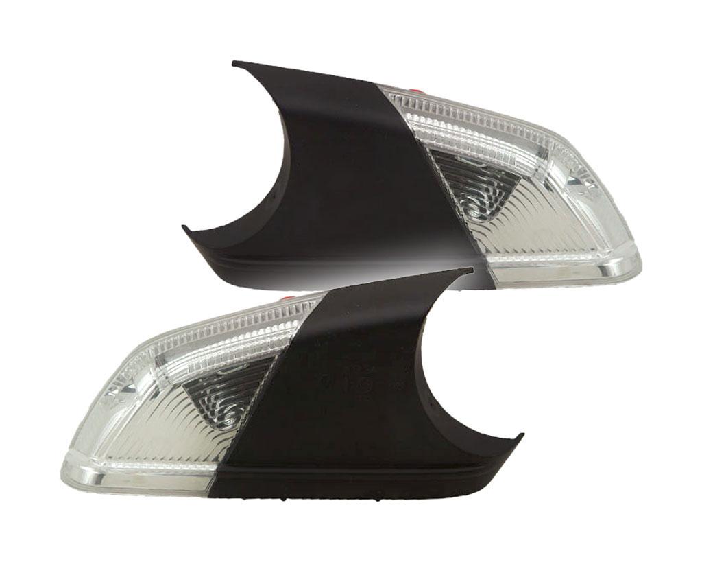 blinker f au enspiegel wei links rechts satz set f r. Black Bedroom Furniture Sets. Home Design Ideas